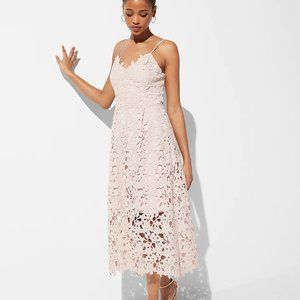 Express | NWT Floral Lace Midi Dress